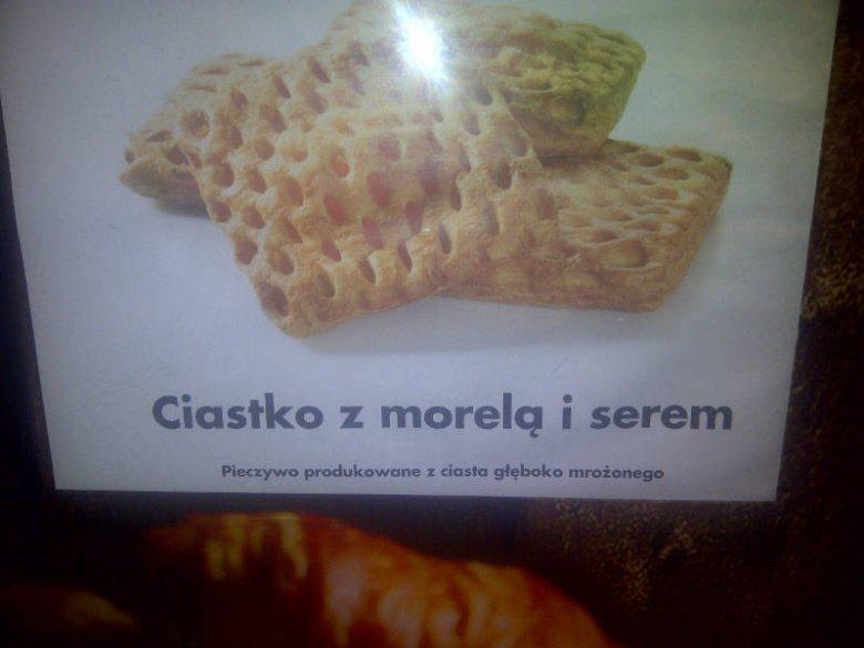 Tak wygląda oznakowanie mrożonego pieczywa w Biedronce. Widoczne, ale w oczy się nie rzuca