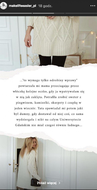 """Katarzyna Tusk w swoim """"listopadowym uniformie""""."""