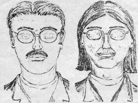 Rysopisy dwóch sprawców stworzone na podstawie relacji Justina