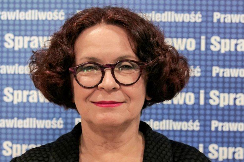 """Elżbieta Kruk jest """"jedynką"""" na lubelskiej liście PiS do Parlamentu Europejskiego."""