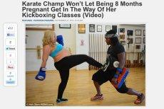 Crystal Green pomimo zaawansowanej ciąży nie rezygnuje z  treningów boksu tajskiego. Czy sport w ciąży jest bezpieczny?