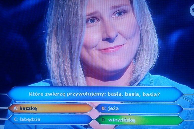 Pytanie o wiewiórkę zaskoczyło paniąAgatę.