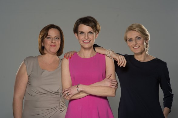 Autorki książki - od lewej Agnieszka Doboszyńska, Joanna Kwaśniewska, Justyna Kuczmierowska.