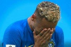 Brazylijski piłkarz Neymar popłakał się po meczu z Kostaryką.