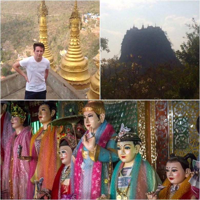 Mount Popa, figurki Natów. Birma