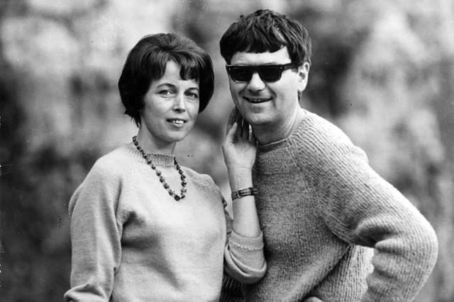 Zdzisław Beksiński z żoną Zofią w 1967 roku.