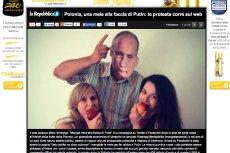 """Jabłkiem w twarz Putina – włoska """"La Repubblica"""" pisze o polskim proteście."""
