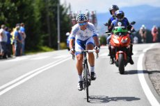 Chris Williams na trasie Tour de Pologne