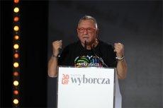 """Jerzy Owsiak zawładnął sceną na gali """"Gazety Wyborczej""""."""