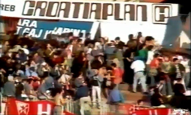 Stopklatka meczu Dinamo Zagreb - Crvena Zvezda 13.04.1990