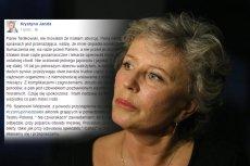 Krystyna Janda odpowiada Tomaszowi Terlikowskiemu i podkreśla, że nigdy nie dokonywała aborcji.