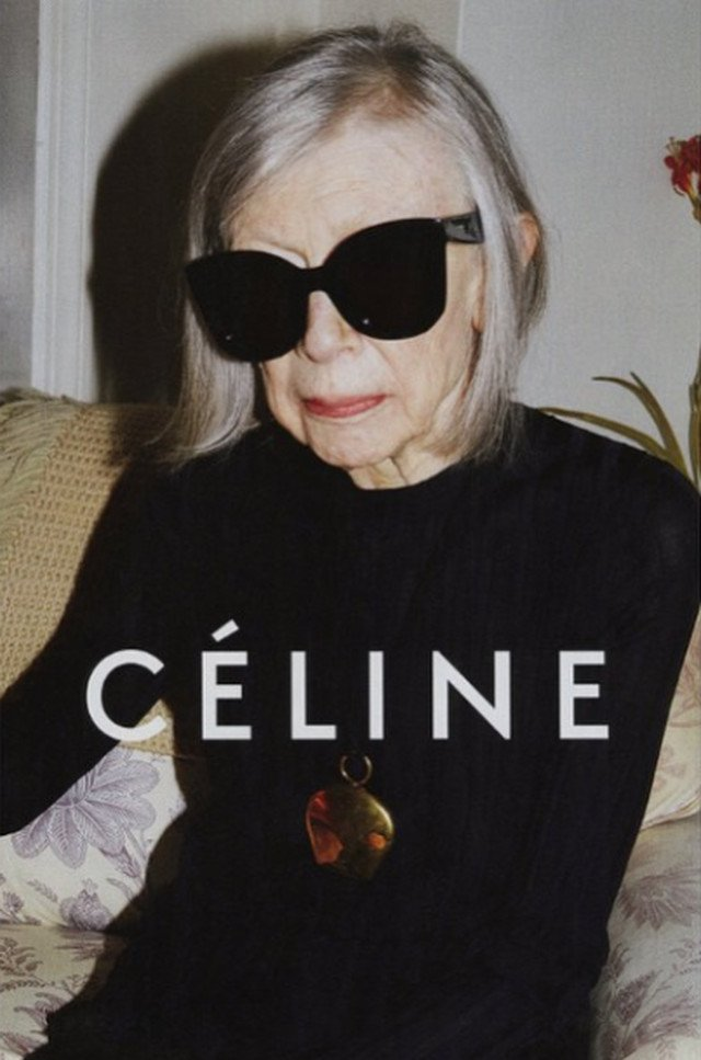 Joan Didion w kampanii Celine.