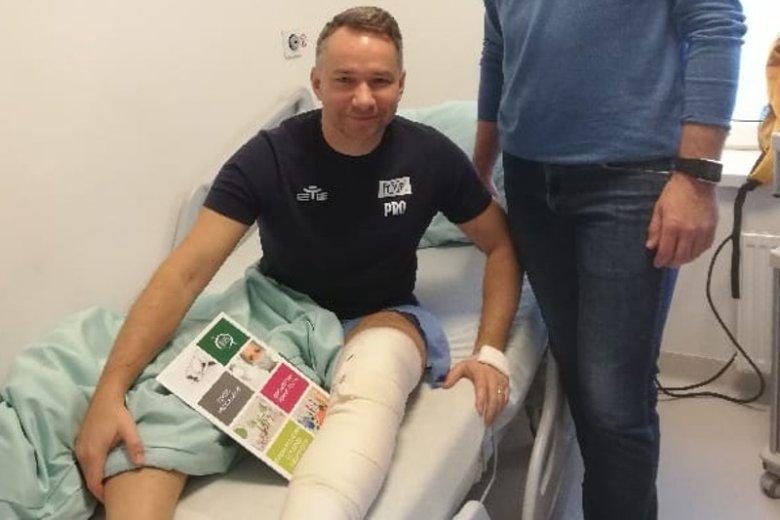 Rafał Patyra przeszedł skomplikowaną operację kolana