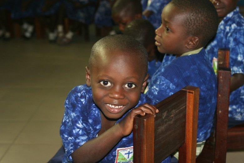 W szkole w Banjul.