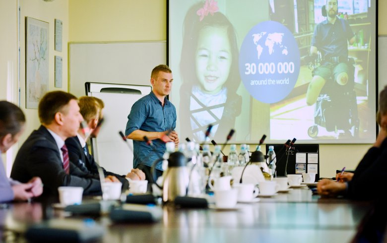 Spotkanie ze studentami Politechniki Rzeszowskiej - autorami projektu Face Controller.