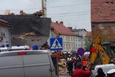 W Świebodzicach na Dolnym Śląsku zawaliła się kamienica