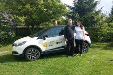 Anna Omielan, stypendystka Renault Handisport Team wraz z tatą Jarosławem
