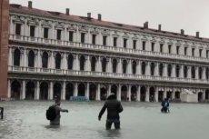 Tak wygląda Wenecja po najbardziej dotkliwych od 10 lat powodziach.