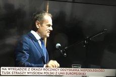 Wystąpienie Donalda Tuska w Łodzi wywołało poruszenie w prawicowych mediach.