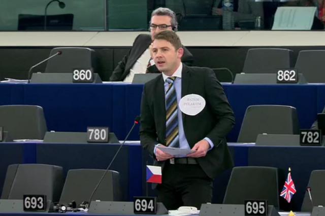 Podczas debaty Parlamentu Europejskiego w sprawie Polski.