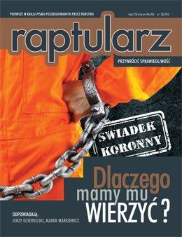Okładka miesięcznika Raptularz - nr 1/marzec 2013