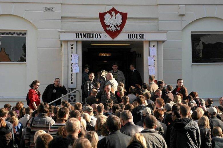 Lokal wyborczy w Londynie w dniu wyborów do Sejmu i Senatu RP