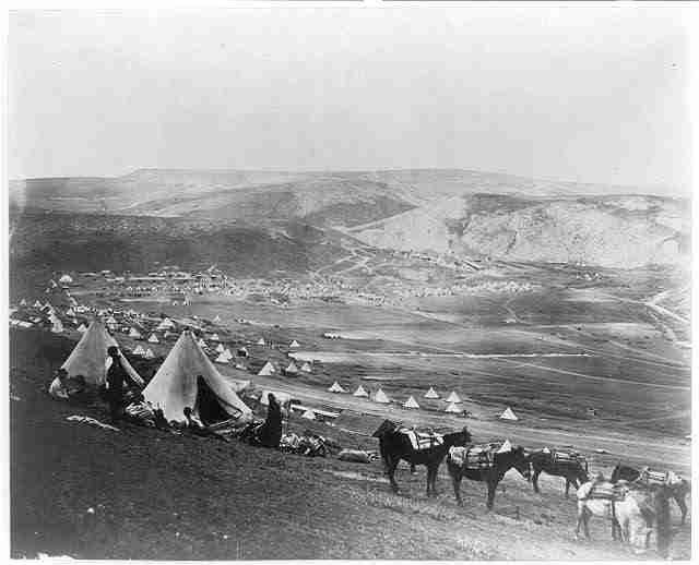 Obóz kawalerii w pobliżu obozu Balaklava. fot.Roger Fenton