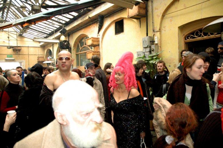 Leon Dziemaszkiewicz i Ewa Kasprzyk, Śniadanie z Komornikiem 27.03.2006, Międzynarodowy Dzień Teatru
