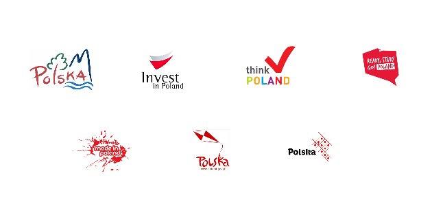 Dotychczasowe logotypy Polski. Żaden się nie przyjął