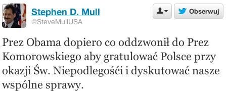Tweet ambasadora USA