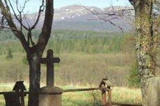 Cmentarz bojkowski w wyludnionej wsi Beniowa w Bieszczadach.