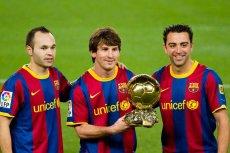 Andres Iniesta, Leo Messi i Xavi - gwiazdy wielkiej FC Barcelony, która być może już niedługo zagra mecz towarzyski w Polsce.