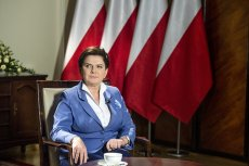 Premier Beata Szydło przygotowuje się do występu w telewizji