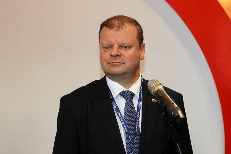 Premier Litwy Saulius Skvernelis ma chłoniaka, ale zamierza pracować dalej
