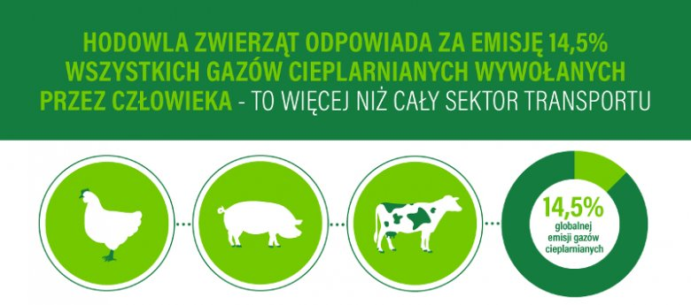 Jedna z infografik przygotowanych w ramach kampanii ''Zmieniaj dietę, nie klimat''