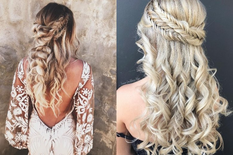 Romantyczna fryzura w stylu boho