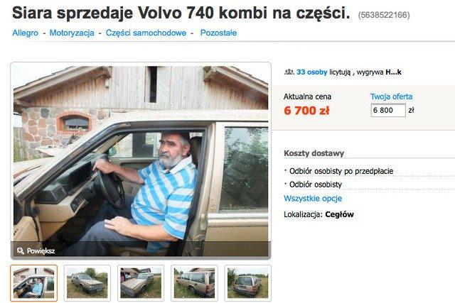 Siara sprzedaje Volvo 740 kombi na części