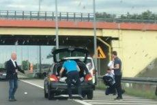 Rafał Trzaskowski i jego ludzi pospieszyli z pomocą poszkodowanym w zdarzeniu drogowym na autostradzie A2.