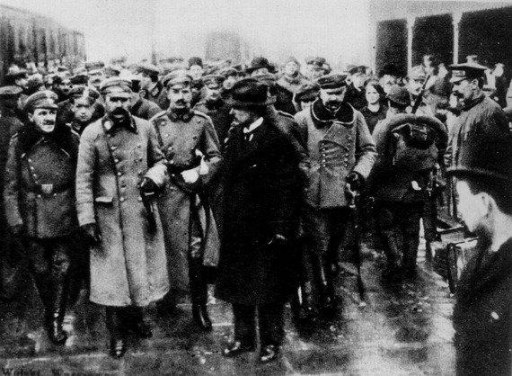 Józef Piłsudski w Warszawie, 12 XII 1916.
