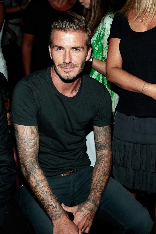 Nowojorski pokaz Y-3, w pierwszym rzędzie David Beckham
