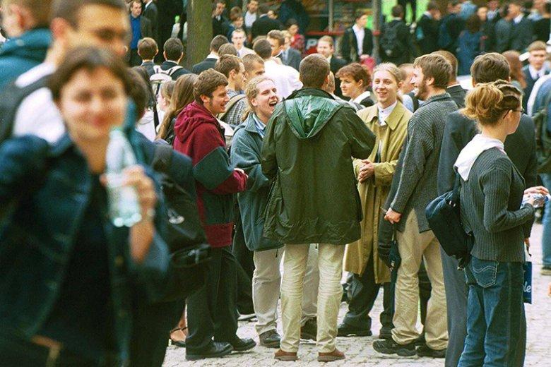 Studenci Politechniki Warszawskiej w 2001 roku.