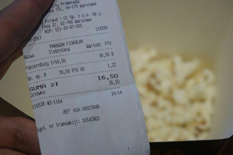 Popcorn w kinie to świetny biznes.