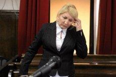 Beata Sawicka podczas rozprawy w sądzie