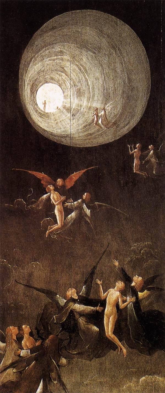 """Hieronim Bosch """"Wzniesienie błogosławionych do raju"""""""