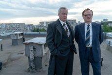 "Stellan Skarsgard i Jared Harris na planie serialu ""Czarnobyl"""