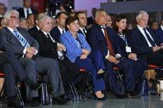 09. 2016, Forum Ekonomiczne w Krynicy. Victor Orban, Jarosław Kaczyński i Beata szydło razem.