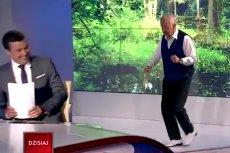 Andrzej Rosiewicz wszedł do studia TVP tanecznym krokiem i z piosenką na ustach.