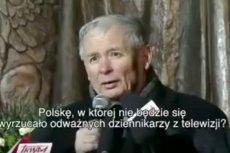 Prezes PiS Jarosław Kaczyński pytał w 2012 roku, czy jesteśmy w stanie wyobrazić sobie Polskę, w której jest pluralizm mediów.