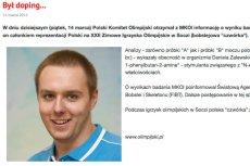 Polskie bobsleista złapany na dopingu.