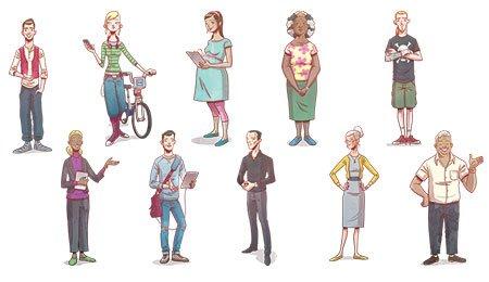 Sylwetki londyńczyków 2023 (© by Arup)